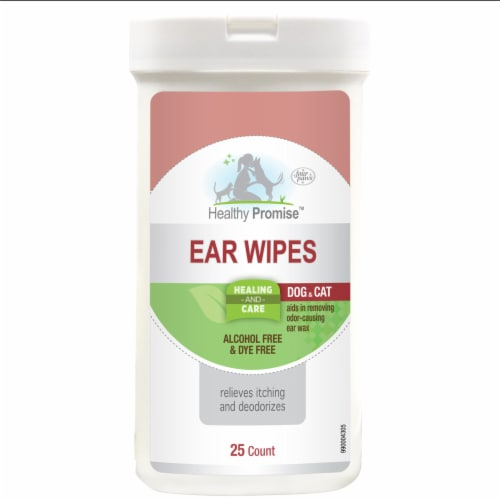 Four Paws Healthy Promise Cat & Dog Ear Wipes Perspective: front