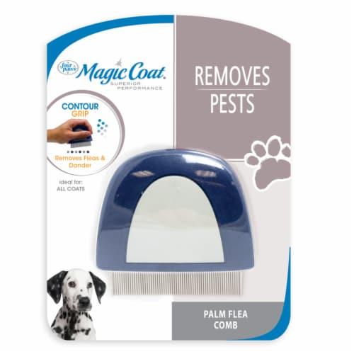 Four Paws Magic Coat Removes Pests Palm Flea Comb Perspective: front