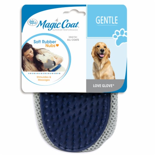 Four Paws Magic Coat Gentle Love Glove Grooming Mitt Perspective: front
