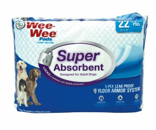 Four Paws Wee Wee Pads Super Absorment 22 Count Perspective: front