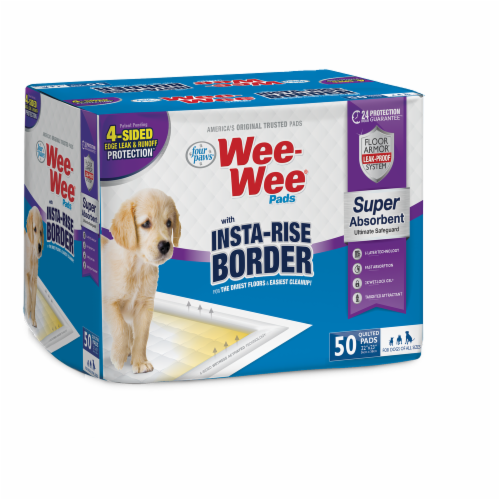 Four Paws Insta-Rise Border Wee-Wee Pads Perspective: front