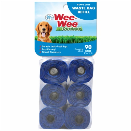 Four Paws Wee-Wee Outdoor Waste Bags Perspective: front