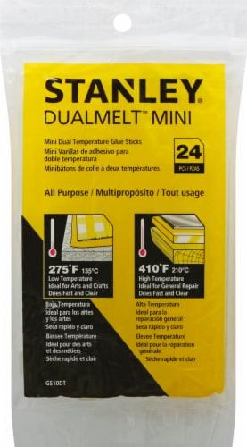 Stanley® Dualtemp Mini Hot Glue Sticks - 24 Pack Perspective: front