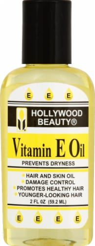 Hollywood Beauty Vitamin E Hair and Skin Oil Perspective: front