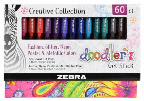 Zebra Doodlerz Gel Stick Pens Perspective: front
