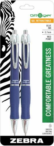 Zebra Pen GR-8 Gel Medium Point Retractable Gel Pens - 2 pk Perspective: front