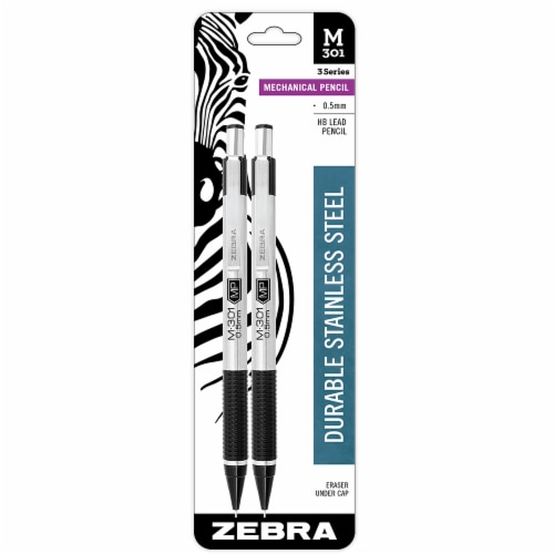 Zebra Stainless Steel Mechanical Pencils Perspective: front