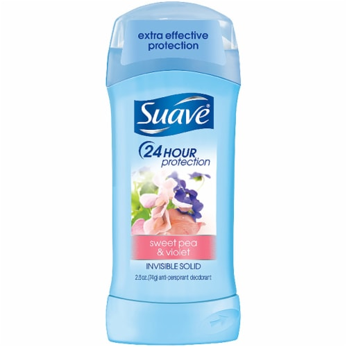 Suave Sweet Pea & Violet 24 Hour Protection Invisible Solid Deodorant Perspective: front