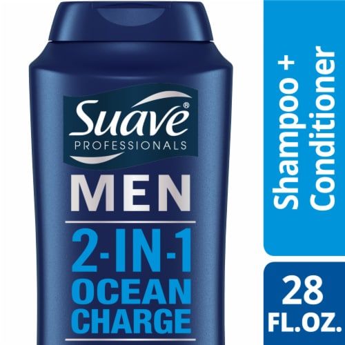 Suave Men Ocean Charge 2-in-1 Shampoo + Conditioner Perspective: front