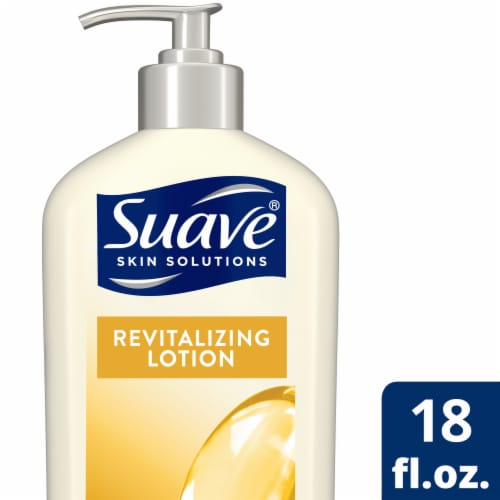 Suave Skin Solutions Revitalizing with Vitamin E Body Lotion Perspective: front