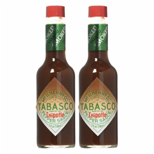 Tabasco Brand Chipotle Hot Sauce 5oz ( 2 pack ) Perspective: front