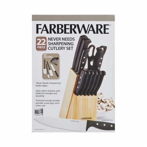 Farberware Never Needs Sharpening Cutlery Set Perspective: front