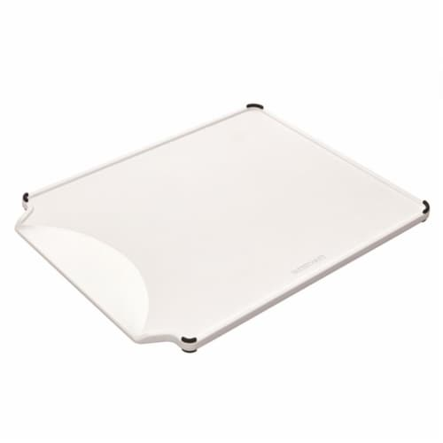 Farberware 11 x 14 in. White Plastic Cutting Board Perspective: front