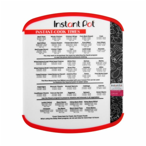 Instant Pot® Cook Times Board - Red Perspective: front