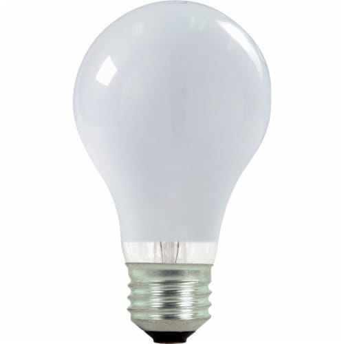 Satco 60W Equivalent Warm White Medium Base A19 Halogen Light Bulb (2-Pack) Perspective: front