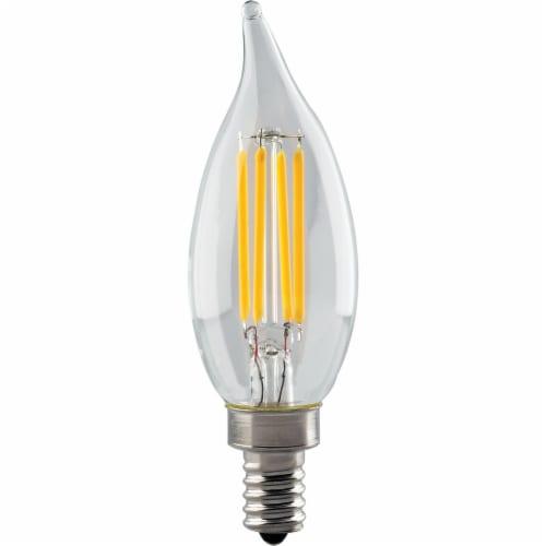 Satco 40W Equivalent Warm White CA11 Candelabra LED Decorative Light Bulb S8552 Perspective: front