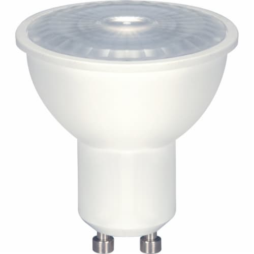 Satco 50W Equivalent Warm White MR16 GU10 Dimmable LED Floodlight Light Bulb Perspective: front