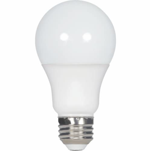 Satco 60W Equivalent Warm White A19 Medium Dimmable LED Light Bulb S9703 Perspective: front