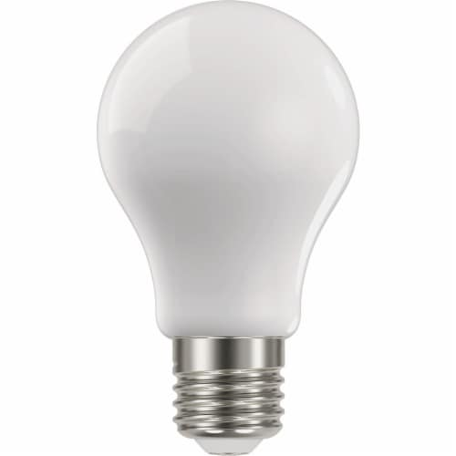 Satco Nuvo 75W Equivalent Warm White A19 Medium Frosted LED Light Bulb (4-Pack) Perspective: front