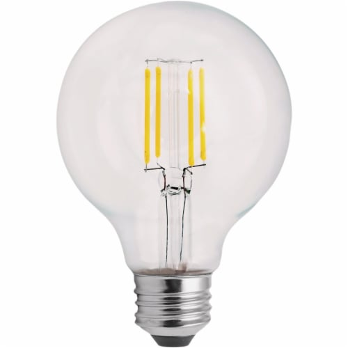 Satco 2pk 60w G25 Med Led Bulb S21739 Perspective: front