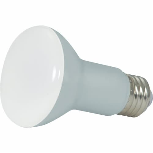 Satco 50W Equivalent Warm White R20 Medium Dimmable LED Floodlight Light Bulb Perspective: front
