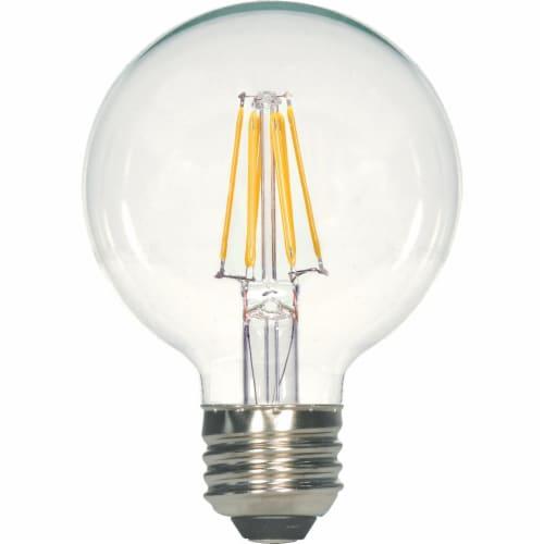 Satco 40W Equivalent Warm White G25 Medium LED Decorative Globe Light Bulb Perspective: front