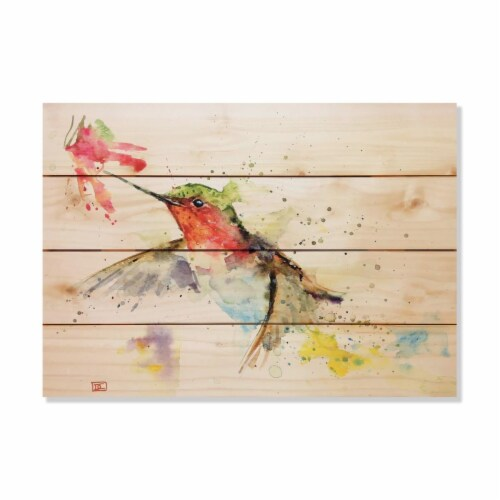 Wile E. Wood DCHAF-2014 20 x 14 in. Crousers Hummer & Flower Wood Art Perspective: front