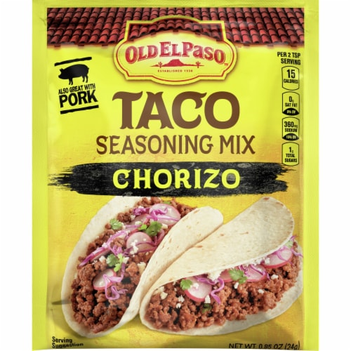 Old El Paso Chorizo Taco Seasoning Mix 0 85 Oz Fry S Food Stores