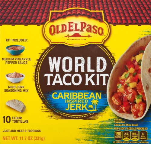 Old El Paso Caribbean Inspired Jerk World Taco Dinner Kit 11 07 Oz Fry S Food Stores