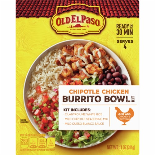 Old El Paso Chipotle Chicken Burrito Bowl Kit Perspective: front