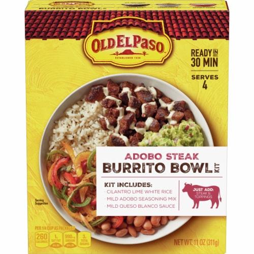 Old El Paso Adobo Steak Burrito Bowl Kit Perspective: front