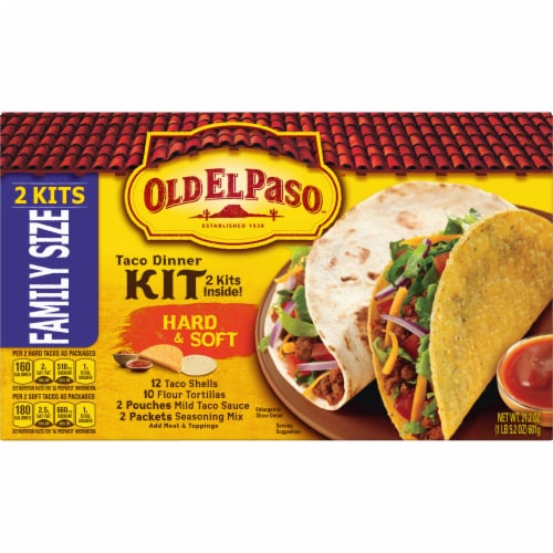 Old El Paso™ Hard & Soft Taco Dinner Kits Family Size Perspective: front