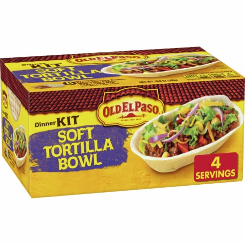 Old El Paso Soft Tortilla Bowl Dinner Kit 8 Count 10 9 Oz Food 4 Less