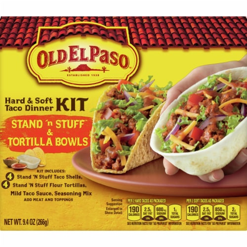 City Market Old El Paso Stand N Stuff Hard Soft Tortilla Bowls Taco Dinner Kit 9 4 Oz