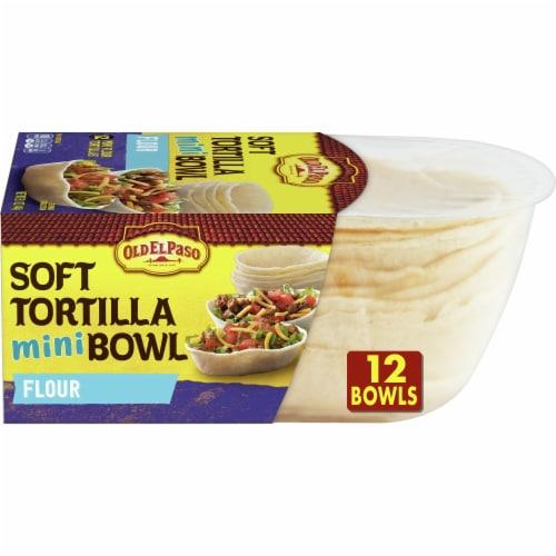 Old El Paso Mini Soft Flour Tortilla Taco Bowls Perspective: front