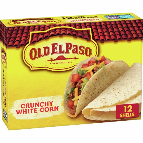 Old El Paso Crunchy White Corn Taco Shells Perspective: front