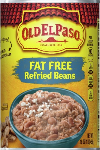 Old El Paso Fat Free Refried Beans Perspective: front