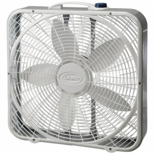 Lasko Premium Box Fan - White/Gray Perspective: front