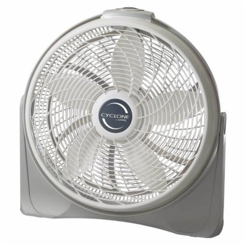 Lasko Cyclone Pivoting Floor Fan - White/Gray Perspective: front