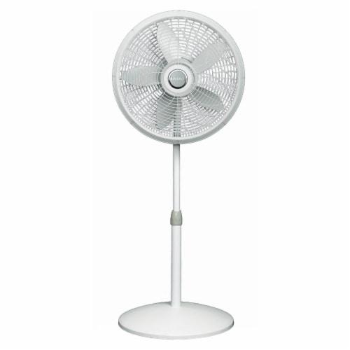 Lasko Adjustable Elegance and Performance Pedestal Fan - White Perspective: front