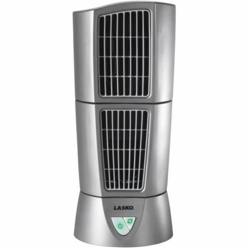 Lasko Wind Tower Fan - Gray Perspective: front