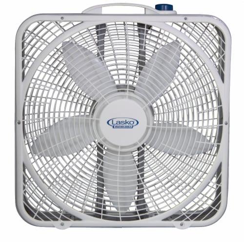 Lasko Premium Weather-Shield Box Fan - White Perspective: front