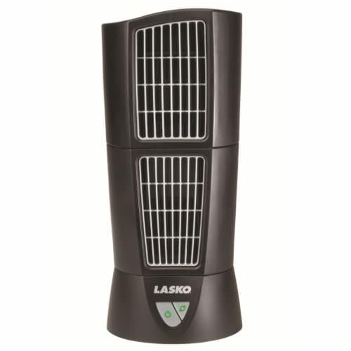 Lasko Desktop Tower Fan - Black Perspective: front