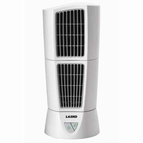 Lasko Desktop Tower Fan - White Perspective: front