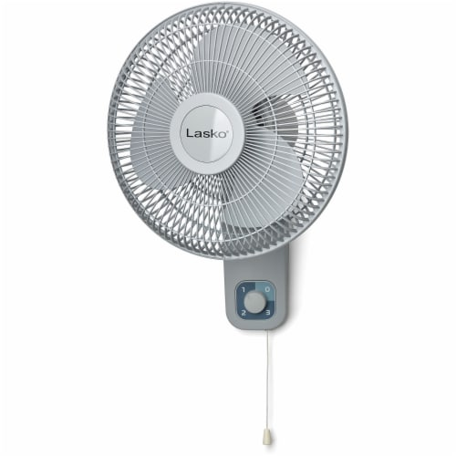 Lasko Oscillating Wall-Mount Fan with Anti-Rust Grills Perspective: front