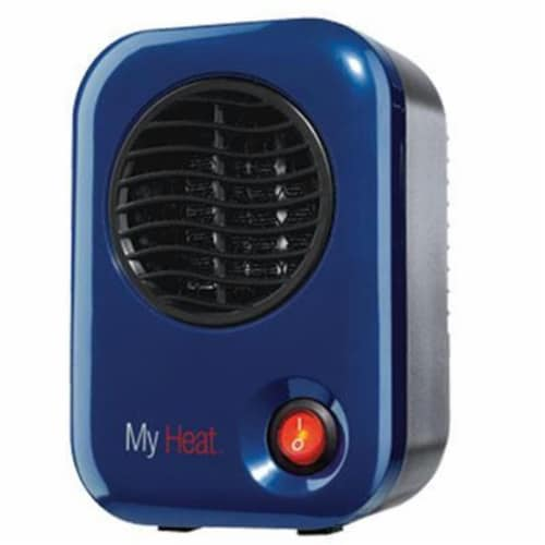 Lasko 102 MyHeat Portable Personal Electric 200W Ceramic Space Heater, Blue Perspective: front