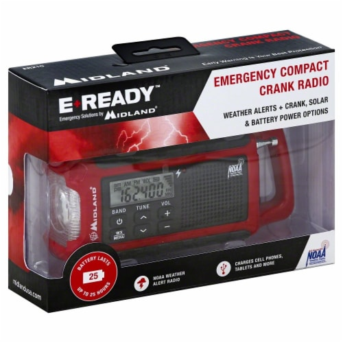 E-Ready Emergency Compact Crank Radio Perspective: front