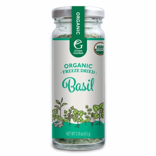 Green Garden Organic Freeze Dried Basil Perspective: front