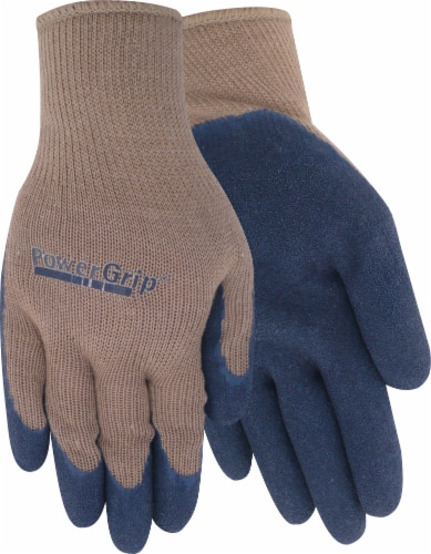 Red Steer Glove Company Powergrip Rubber Palm Gloves - Brown/Blue Perspective: front