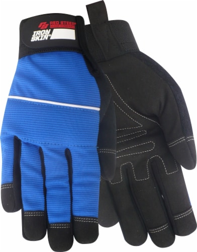 Red Steer Glove Company Ironskin Hi-Dex Gloves - Royal Perspective: front